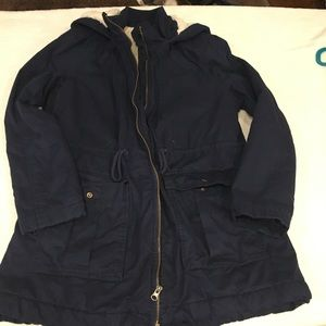 Gap lined field jacket with hood